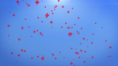 Abstract background of  medical Particles over blue background Stock Footage