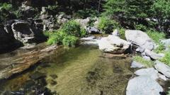 Clear Waters Of Oak Creek Flowing In Oak Creek Canyon- Sedona AZ Stock Footage