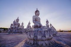 Buddha park in Thungsong Nakornsrithumrach province.Location is a vast nation Stock Photos