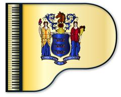 Grand Piano New Jersey Flag Piirros