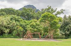 Childrens playground in the Kirstenbosch Botanical Gardens Stock Photos