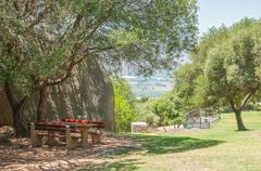 Picnic spot at the Afrikaans Language Monument Stock Photos