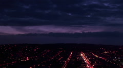 Panning shot the San Francisco area at night. Stock Footage