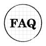 FAQ icon. Internet button on white background.. Stock Illustration