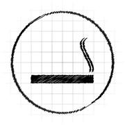 Cigarette icon. Internet button on white background.. Stock Illustration
