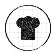 Chef icon. Internet button on white background.. Stock Illustration