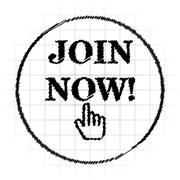 Join now icon. Internet button on white background.. Stock Illustration