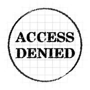 Access denied icon. Internet button on white background.. Stock Illustration