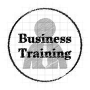 Business training icon. Internet button on white background.. Stock Illustration