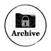 Archive icon. Internet button on white background.. Stock Illustration