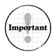 Important icon. Internet button on white background.. Stock Illustration