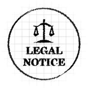 Legal notice icon. Internet button on white background.. Stock Illustration