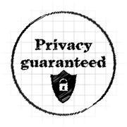 Privacy guaranteed icon. Internet button on white background.. Stock Illustration