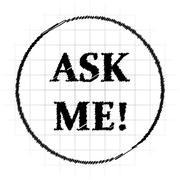 Ask me icon. Internet button on white background.. Stock Illustration