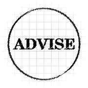 Advise icon. Internet button on white background.. Stock Illustration