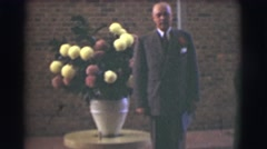 1959: two older, adult males, showing a strong similarities  Stock Footage