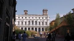 Palazzo Nuovo palace in Bergamo Stock Footage