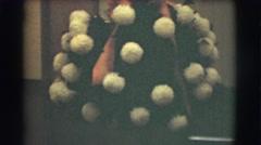 1959: man standing between arrangement talking ST. LOUIS Stock Footage