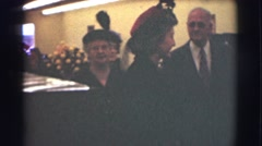1959: people in a formal meeting with many flowers and dark suits ST. LOUIS Stock Footage