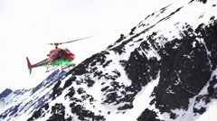 Heliskiing - Luxury Vacation - Backcountry Skiing Stock Footage