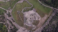 Beit She'an - Tel Beit She'an and a modern Beit She'an (Israel aerial footage) Stock Footage