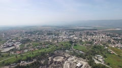 Beit She'an - Three cities in line (Israel aerial footage) Stock Footage