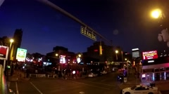 B.B. King and Beale street in Memphis Tenneesee at night with neon lights. Stock Footage