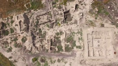 Beit She'an - Egyptian period ruins (Israel aerial footage) Stock Footage
