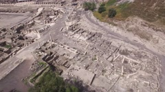 Bet She'an - Roman era ruins (Version 1 of 3) (Israel aerial footage) Stock Footage