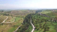 Beit She'an (Israel aerial footage) Stock Footage