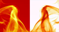 Wave of orange smoke on orange and white vertical splited background 5 Stock Footage