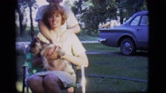 1966: this little boy is showing that he really does love his mother a lot. Stock Footage