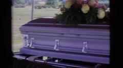 1966: cemetery ceremony CLARKSDALE, ARIZONA Stock Footage