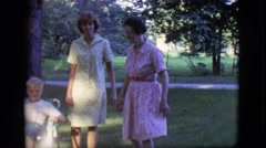 1966: two women, two children and a little dog in a country setting CLARKSDALE, Stock Footage