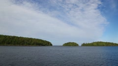 Islands of the Valaam archipelago on Ladoga lake in Russia Stock Footage