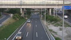 Empty highway, several level road Stock Footage