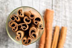 Cinnamon stick spice. Stock Photos