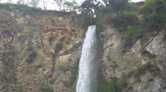 Sipiso-piso waterfall footage in North Sumatra. Establishing shot Stock Footage