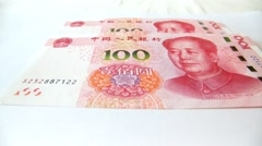 The latest version of the Chinese yuan Stock Footage