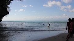 Uluwatu Bali Beach Waves Surf Stock Footage