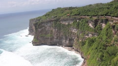 Uluwatu Bali Waves at the temple Stock Footage