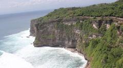 Uluwatu Bali Waves at the temple Stock Footage