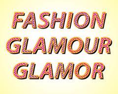 Fashion and glamor words Stock Illustration