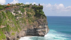 Bali Uluwatu Temple Timelapse Waves against rocks Stock Footage