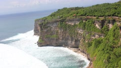 Bali Uluwatu Timelapse waves against cliffs Stock Footage