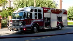 Coquitlam fire emergency personnel in rescue action Stock Footage