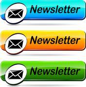 Newsletter web buttons Stock Illustration