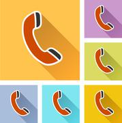 Phone icons Stock Illustration