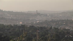 Mist covers the city of Kampala, Uganda. Stock Footage