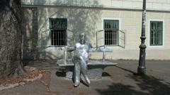 The Antun Gustav Matos Statue Stock Footage